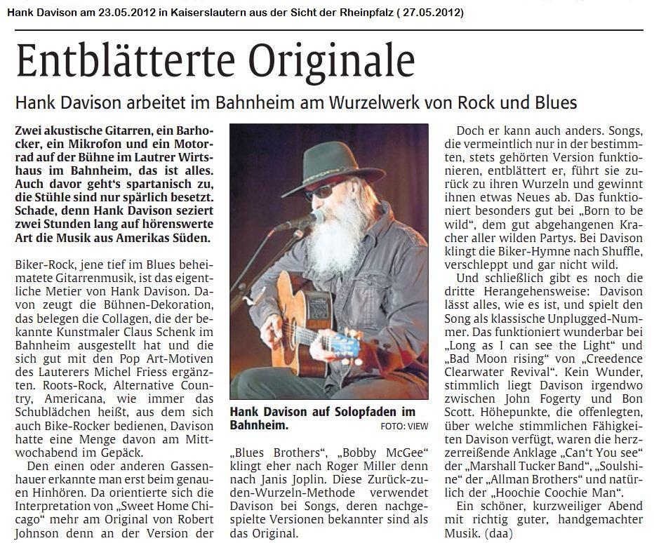 Presse vom 23.05.2012 in KL-Rheinpfalz vom 25.05.2012
